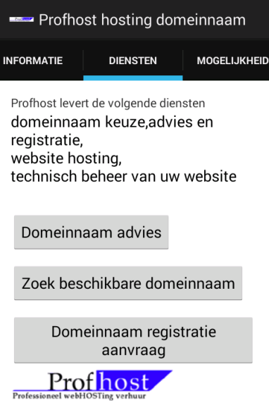 Profhost APP downloaden